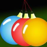 Drie ballen van inwoner stock foto