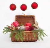 Drie ballen van Kerstmis Royalty-vrije Stock Afbeelding