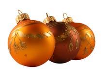 Drie ballen van Kerstmis stock afbeelding