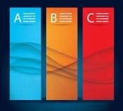Drie bannermalplaatjes Stock Afbeeldingen
