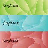Drie banners Stock Afbeeldingen