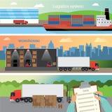 Drie banners Vector Illustratie