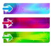 Drie banners met pijlen Stock Fotografie