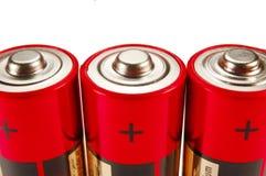 Drie batterijen Stock Fotografie