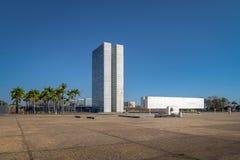 Drie Bevoegdheden Plein - Brasilia, Federale Distrito, Brazilië royalty-vrije stock afbeelding