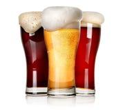 Drie bieren stock fotografie
