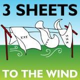 Drie Bladen aan de Wind Royalty-vrije Stock Afbeelding