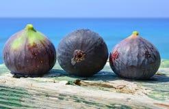 Drie blauwe fig. Royalty-vrije Stock Afbeeldingen
