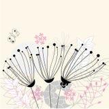 Drie bloemen Royalty-vrije Stock Afbeelding