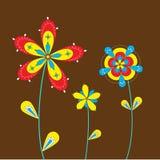 Drie bloemen Stock Foto