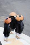 Drie boeddhistische monniken Stock Foto