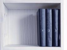 Drie boeken Stock Afbeelding