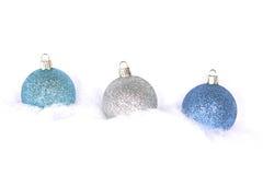 Drie Bollen van Kerstmis Royalty-vrije Stock Afbeelding