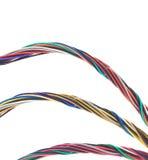 Drie Bossen van Kleurrijke Kabels Stock Afbeeldingen