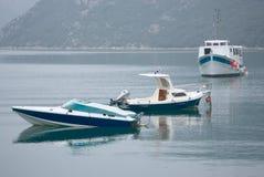 Drie boten Royalty-vrije Stock Foto
