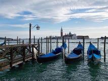 Drie boten in Venetië royalty-vrije stock foto