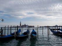 Drie boten in Venetië royalty-vrije stock foto's