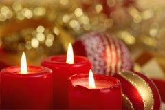 drie brandende kaarsen Royalty-vrije Stock Afbeelding