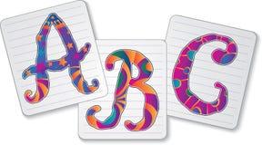 Drie brieven Stock Foto