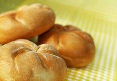Drie broodjes Stock Fotografie