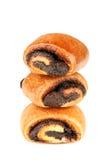 Drie broodjes stock afbeeldingen