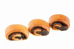 Drie broodjes royalty-vrije stock afbeeldingen