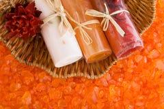 Drie broodjes van gekleurde zeep Royalty-vrije Stock Foto's