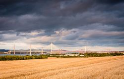 Drie Bruggen over Firth van vooruit Stock Foto