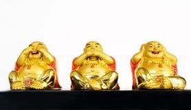 Drie Buddhas Royalty-vrije Stock Foto