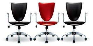 Drie bureaustoelen royalty-vrije illustratie