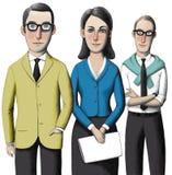 Drie bureauwerknemers Stock Foto's