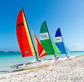 Drie catamarans Royalty-vrije Stock Foto's