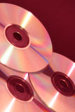 Drie Cd's Stock Foto