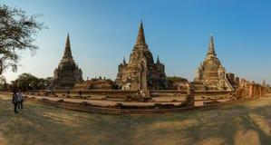 Drie Chedis van Wat Phra Si Sanphet Stock Fotografie