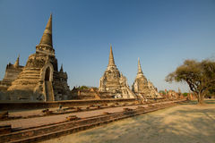 Drie Chedis van Wat Phra Si Sanphet Stock Foto's
