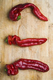 Drie Chilis Royalty-vrije Stock Afbeelding