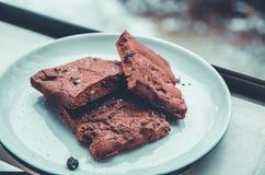 Drie chocoladekoekjes Royalty-vrije Stock Afbeeldingen