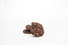 Drie chocoladekoekjes Stock Afbeelding