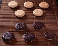 Drie chocoladekoekjes Royalty-vrije Stock Foto