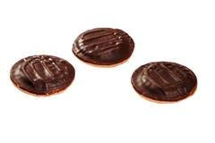 Drie chocoladekoekjes Stock Foto's