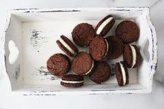 Drie chocoladekoekjes Royalty-vrije Stock Fotografie