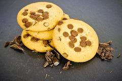 Drie chocoladekoekjes Royalty-vrije Stock Afbeelding