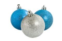 Drie christmassballen Royalty-vrije Stock Fotografie