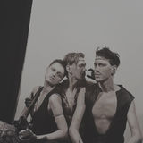 Drie circusuitvoerders Stock Fotografie