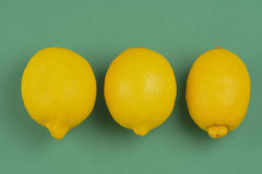 Drie citroenen Stock Afbeelding
