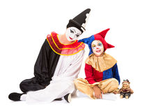 Drie clowns Stock Fotografie