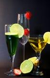 Drie Cocktails Royalty-vrije Stock Fotografie