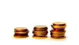 Drie coulmns van euro Royalty-vrije Stock Afbeelding