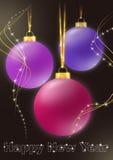 Drie cristmansballen Royalty-vrije Stock Afbeelding