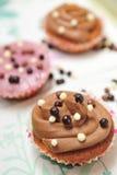 Drie cupcakes Royalty-vrije Stock Fotografie